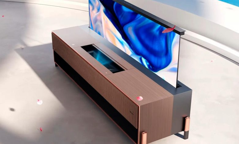 hisense-launches-laser-tv-with-roll-up-screen